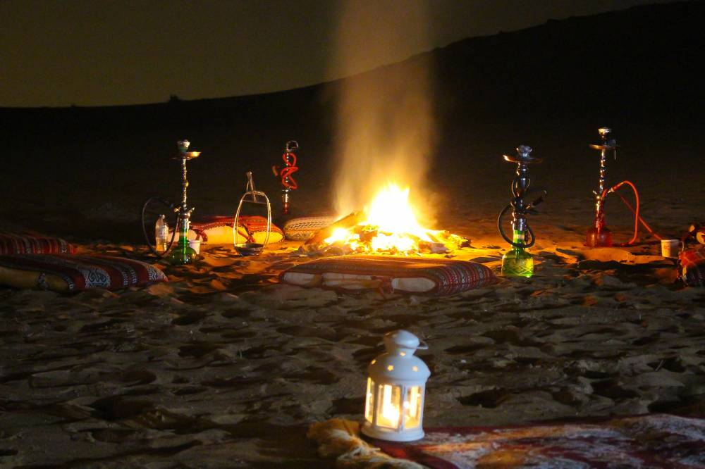 Shisha in the desert