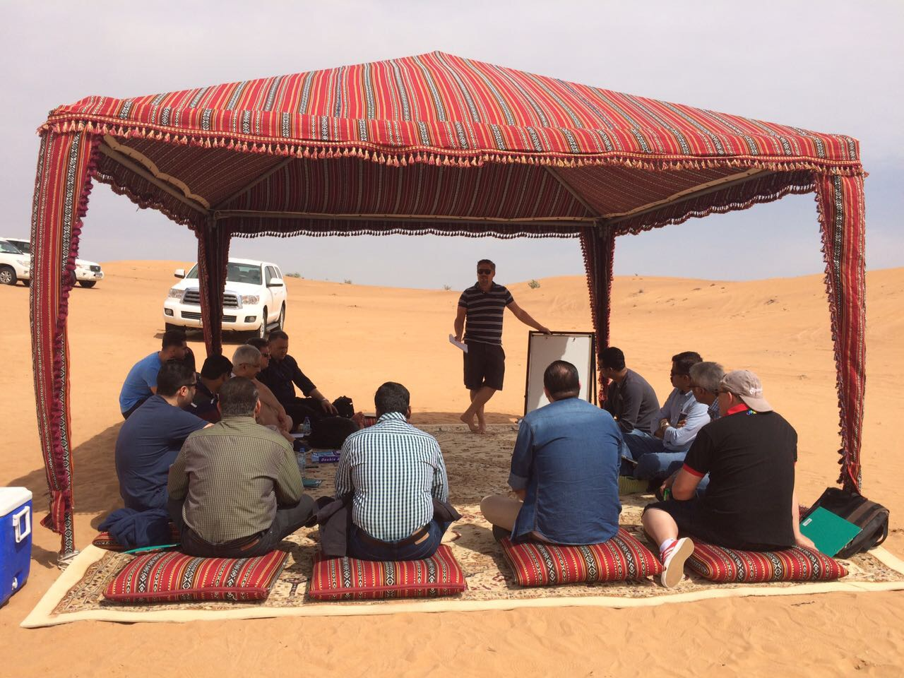 Conference room in the Dubai desert