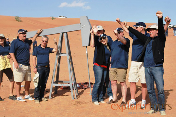 treasure hunt team building in the desert