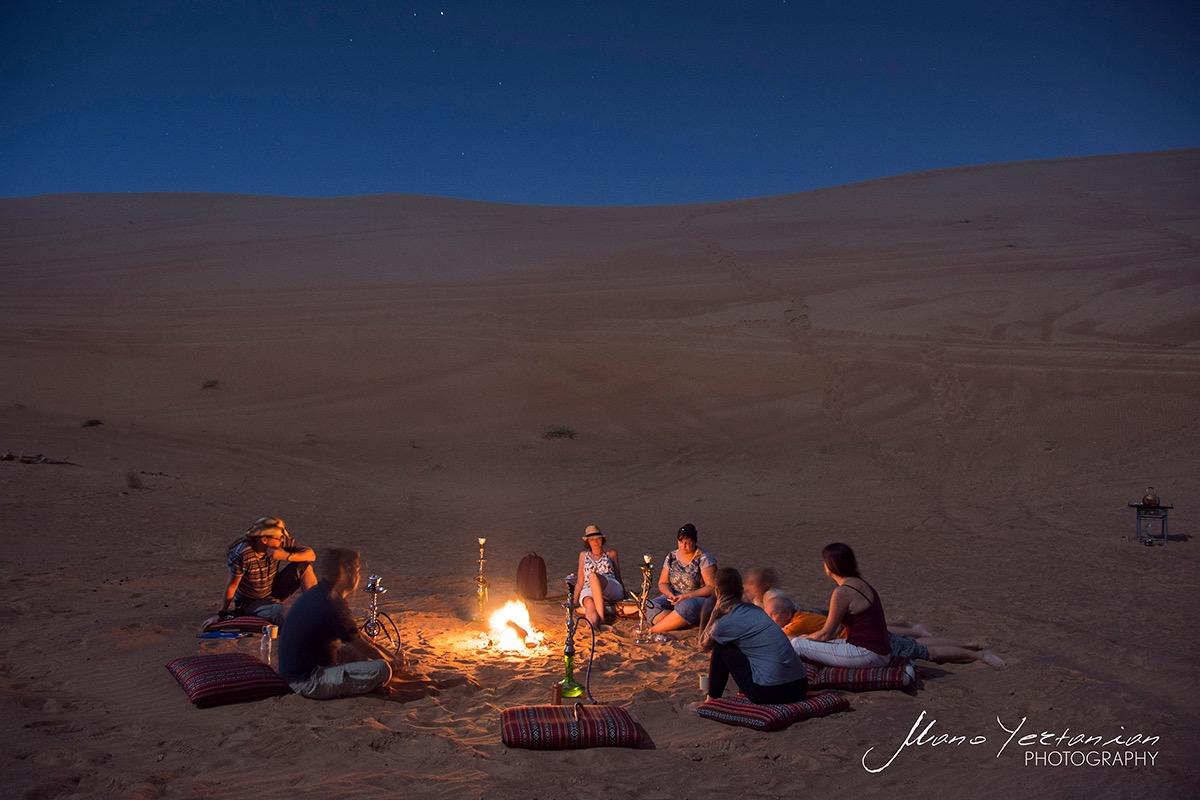 Bonfire Dubai desert